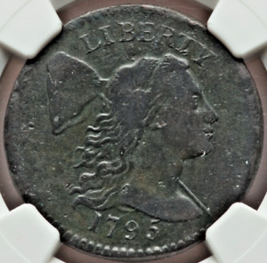 1795 Plain Edge Large Cent NGC VF Details Great, Original Patina and Eye Appeal