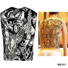 UK Death Azrael Gost Hunting Devil Full Back Temporary Tattoo sticker Body Art