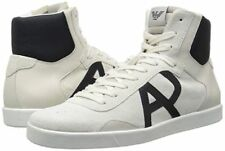 Armani Jeans Mens Classic AJ Logo High Top Sneakers White US 9.5 EU 43 New