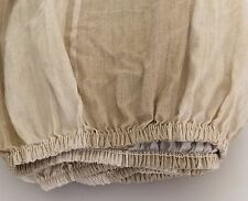 "Ralph Lauren FITTED Sheet ""Villa Camelia Stripe,Cream"" ~TWIN~19"" Pockets~EUC"