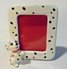 """Vintage Disney 101 Dalmations Picture Frame Japan Porcelain 5.5"""" x 4.5"""" Portrait"""