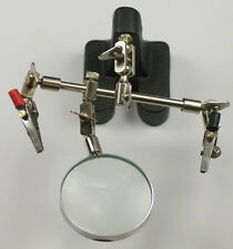 3RD Helping Hand Glass Magnifying Adjustable Model Great For Soldering jewellery