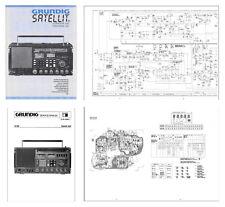 "GRUNDIG SATELLIT 650 PHOTOCOPY INSTRUCTION + SERVICE MANUALS + 11x17"" DIAGRAMS"
