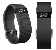 Fitbit Charge HR Heart Rate & Fitness Tracker Activity Black Wristband Large