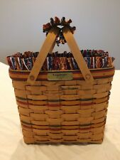 Longaberger 1996 Vip Basket Signed By Dave Tami Rich Gary