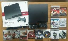BOXED SONY PLAYSTATION 3 PS3 160GB SLIM CONSOLE BUNDLE + 6 GAMES **FREE P&P**