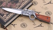 Rifle Style Folding Pocket Knife With LED Light Torch Flipper Novelty