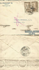 J) 1930 MEXICO, EAGLE AND AIRPLANE, MULTIPLE STAMPS, AIRMAIL, CIRCULATED COVER,