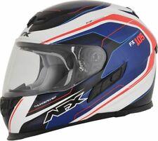 AFX FX-105 Thunderchief Moto Motorbike Street Helmet Blue / White / Red