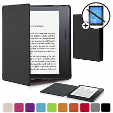 Black Smart Case Cover Shell Sleeve Amazon Kindle Oasis & Screen Prot Stylus