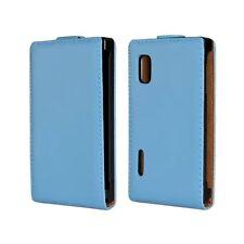 Genuine leather Flip Case Cover Open up For LG Optimus L5 E610 E612 E612g E615