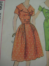 Vintage 60's Simplicity DOUBLE BREASTED DRESS NOTCH COLLAR Sewing Pattern Women