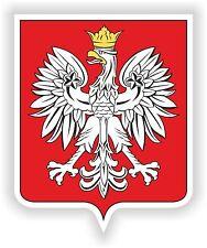 Poland Crest Sticker Polish Coat of Arms Bumper Decal Helmet Skateboard Truck