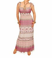 New Mesh Gypsy Style Maxi Style Dress - Fully Lined