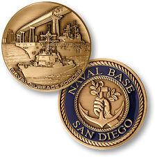 Naval Base San Diego Challenge Coin USN Navy Port Bay Station Coronado Bridge US