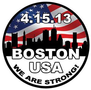 "Boston Memorial Sticker Decal 3.5"" x 3.5"" Boston Marathon Strong"