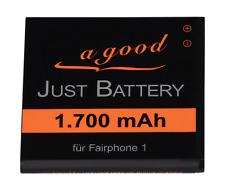 1700 mAh original JuBaTec Akku für Fairphone 1 inkl. passendem Spacer