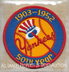 1952 NEW YORK YANKEES Willabee &  Ward COOPERSTOWN COLLECTION TEAM PATCH ~ NEW