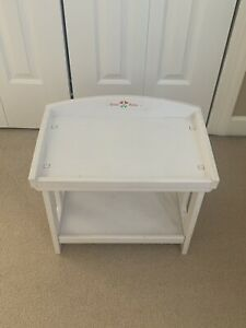 AMERICAN GIRL BITTY BABY TWINS DOLL WHITE CHANGING TABLE RETIRED