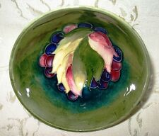 """Moorcroft Pottery - Leave & Berry Pattern - Classic Form Footed Bowl 4 3/8"""" Dia."""