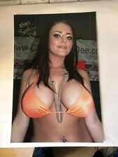 """SOPHIE DEE Signed 8x12"""" Original PHOTO-BUSTY BABE"""