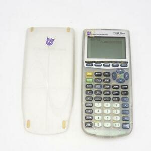 Texas Instruments TI-83+ Graphing Calculator Clear Frosted Case