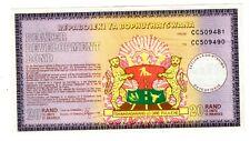 BOTSWANA BOND BEARER DEVELOPMENT 2 TIGRES 20 RAND 10 UNIT 1975 ACTION TITRE BOND