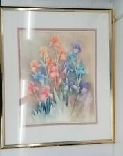 Panom Suwannath Ltd Edn Flowers Etching Print #4/20 Framed 35x30