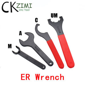 ER A/U/UM/C/APU/OZ-Type Wrench Engraving Machine Spindle Tighten Collet Wrench