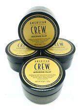 American Crew Molding Clay 3oz Pack of 4 Men's High Hold Medium Shine Hair Gel