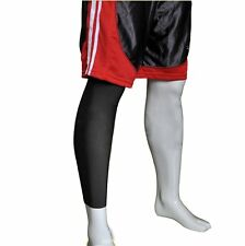 Sleeve Bandage Support Wrap, Elasticated Breathable Leg Brace Black - Large