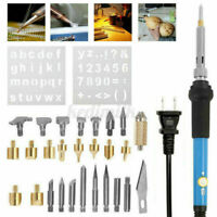 71x Wood Burning Pen Tool Soldering Stencil Iron Craft Set Pyrography Tool Kit