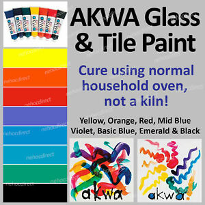 Black Glass and Tile Paint Non-toxic, chemical fee, oven cure, dishwasher safe.
