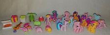Hasbro My Little Pony Ponyville 24p Lot Ponies Accessories Hair Pizza Presents