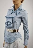 Ralph Lauren Blue & White Stripe Cotton Long Sleeve Blouse - NWT