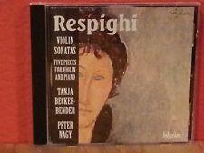 Respighi: Violin Sonatas/Five Pieces for Violin and Piano     CD  LIKE NEW  BR67