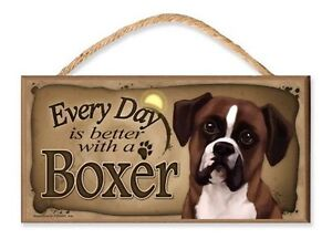 Every Day is Better with a Boxer (Coffee Theme) Wooden MDF Sign