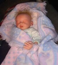 """Reborn baby doll sleeping realistic life like weighted silicone 18"""""""