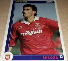 CARD SCORE 1993 ANCONA AGOSTINI CALCIO FOOTBALL SOCCER ALBUM