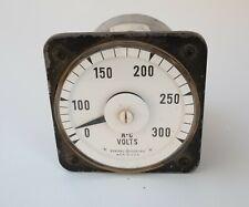 General Electric A C Gauge 0 300 Volts S4r Ac Voltmeter Model 8ab 18v3am1 Vtg