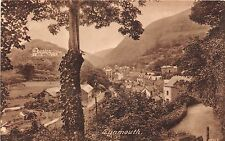 England postcard Lynmouth panorama view