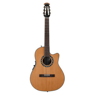 Ovation 1773AX-4 Timeless Collection Classical Nylon Acoustic Guitar, Natural