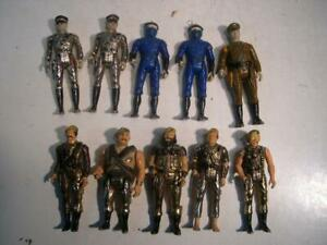 Lot of 10 Metal Mego Eagle Force Savitar, Stryker Action Figures 2.75 Tall Heavy