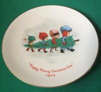 1975 Moppets Christmas Plate By Gorham Fine China