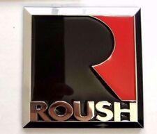 Metal Black RED Ford Mustang Square Roush Emblem Fender Badge Sticker US Seller