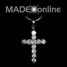 Small Cross Crystal Necklace Cubiz Zirconia CZ Bling