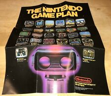 1985 EARLY NES TEST MARKET FIRST Small POSTER Nintendo GAME PLAN Black Box RARE!