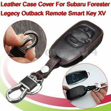 Leather Car Key Case Cover For Subaru Forester Legacy Outback Remote Smart Key