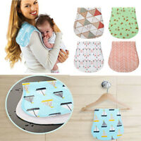 4-Pack Baby Burp Cloths Cotton Soft Absorbent Towels Burping Waterproof Cloths