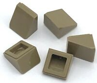 Lego 5 New Dark Tan Slope 30 1 x 1 x 2/3 Sloped Pieces